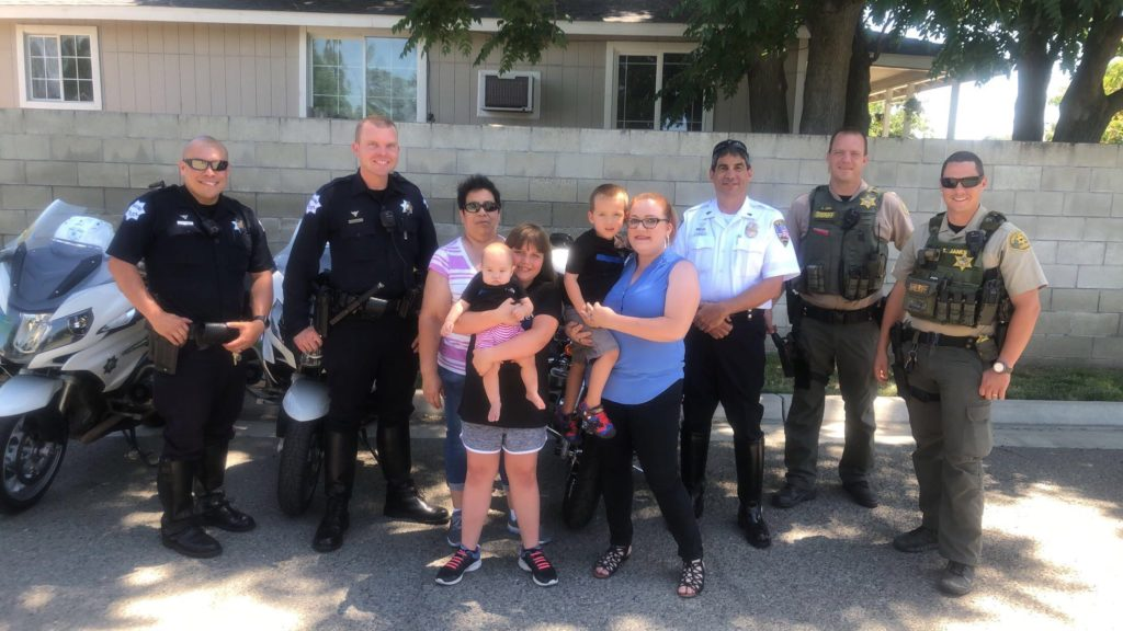 Solemn memorial for fallen Lemoore officer uprooted by